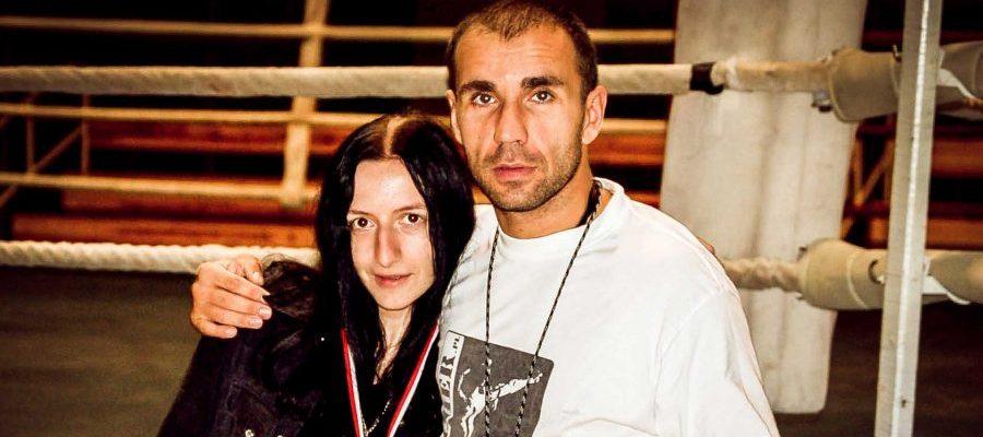 Puchar Polski Kickboxing Low-kick, Milicz 2006. Dorota Drużko z trenerem Janowskim