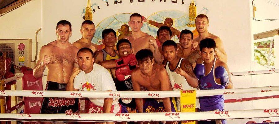 Tajlandia treningi Muay Thai 2007. Zdjęcie pamiątkowe