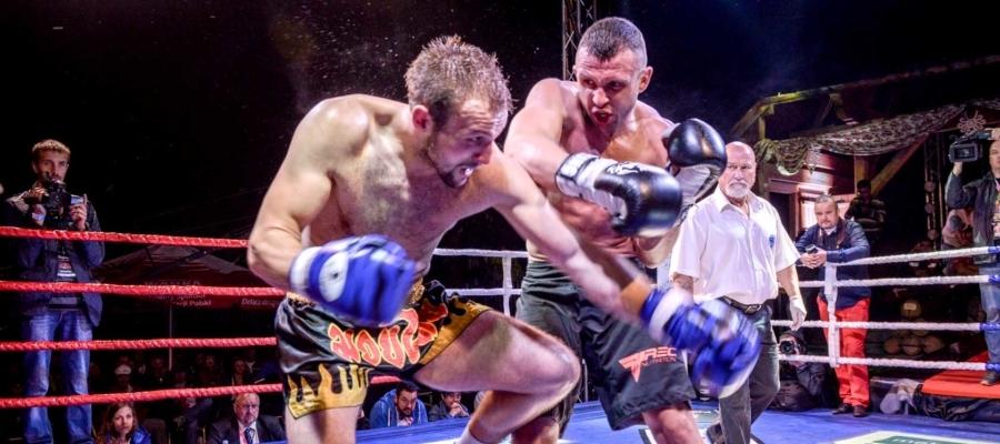 Paweł Jędrzejczyk Gala Kickboxingu Noc Góralskich Wojowników Poronin 2014. Wymiany bokserskie