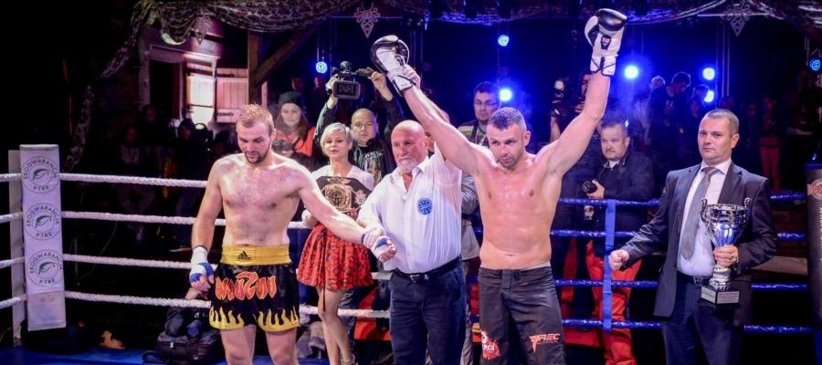 Paweł Jędrzejczyk Gala Kickboxingu Noc Góralskich Wojowników Poronin 2014. Zwycięstwo Pawła Jędrzejczyka