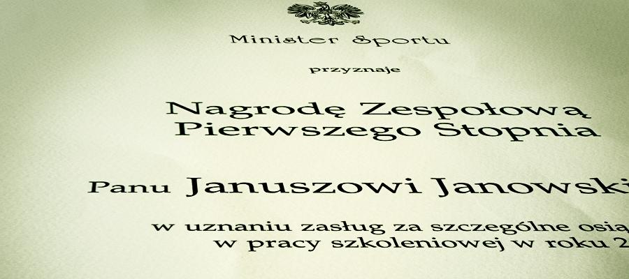Nagroda Ministra Sportu za rok 2006