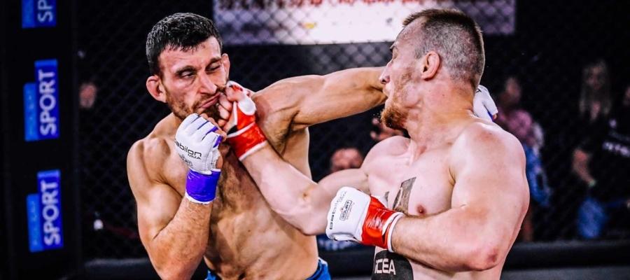 Mariusz Mazur na gali Babilon MMA 13