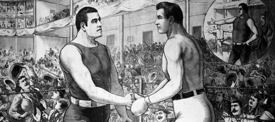 Boks. Walka Sullivana i Corbettem z 1892 roku